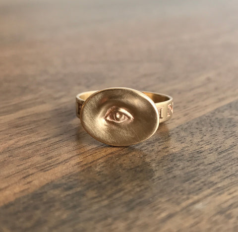 Gabriella Kiss 10k Gold Eye Ring