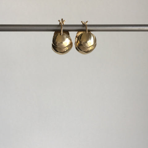 Rachel Atherley Small Gold Roly Poly Hoops