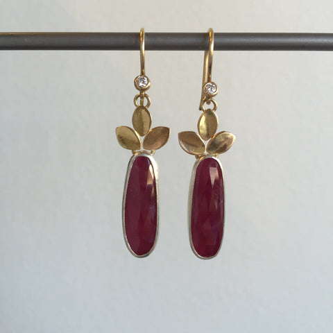 Katie Carder Ruby Drop Earrings