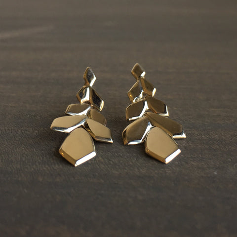 Rachel Atherley Small Gold Weeping Willow Earrings