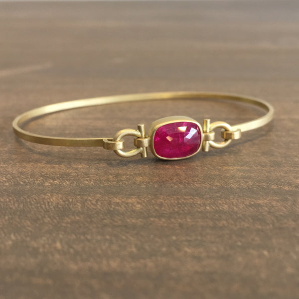 Monika Krol Ruby Bangle Bracelet