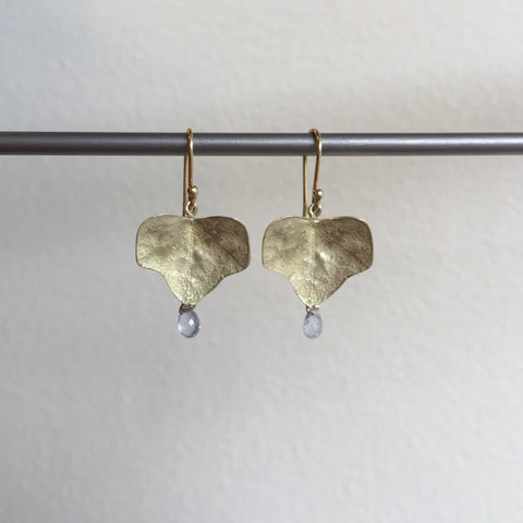 Gabriella Kiss Gold Ivy Earrings with Sapphire Drops