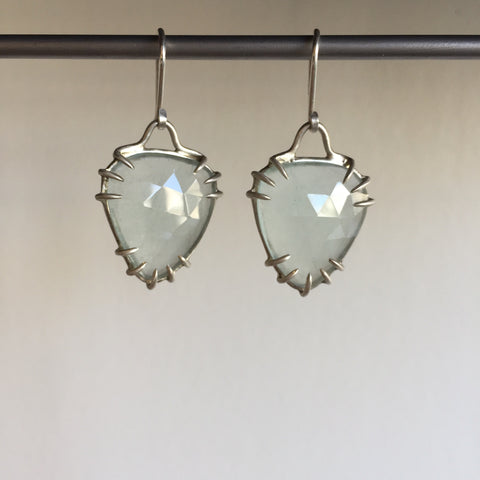 Hannah Blount Aquamarine Shield Earrings