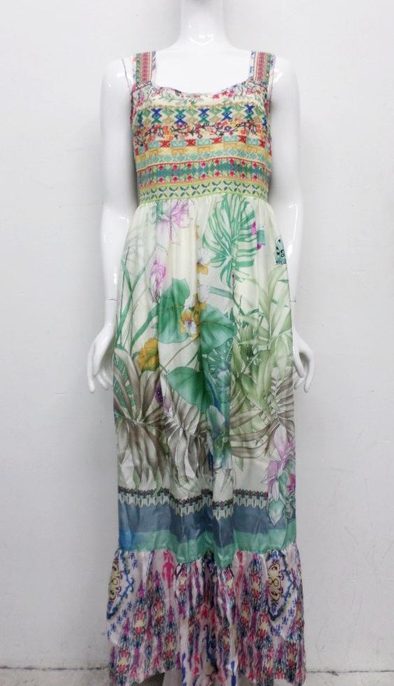 Johnny Was Collection Blue Spring Maxi Dress S Jw40300614