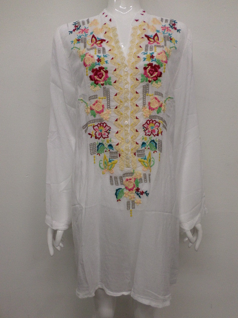Johnny Was Eyelet Floral Tunic – L / XL – JW43511015