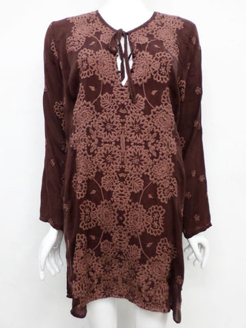 NWT Johnny Was Embroidered Stars Popover Tunic - XL - SH10510718