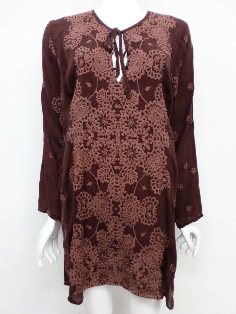 NWT Johnny Was Embroidered Stars Popover Tunic - XXL - SH10500718