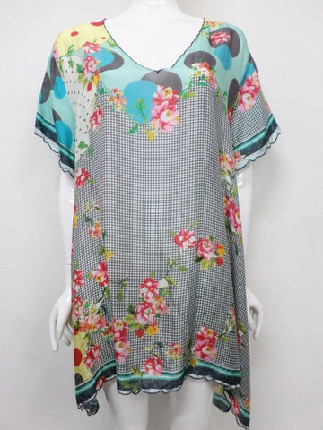 NWT Johnny Was Freemont Silk Tunic - 2X - JW70621017