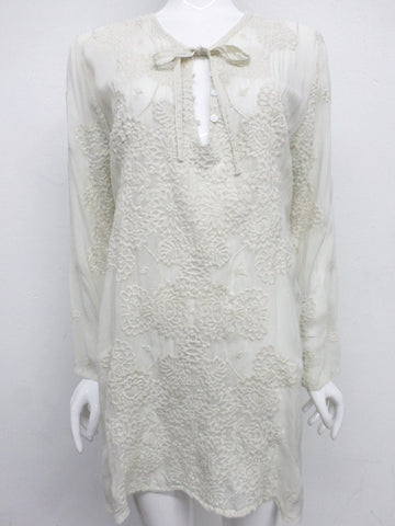 NWT Johnny Was Embroidered Stars Popover Tunic - M - SH10350418
