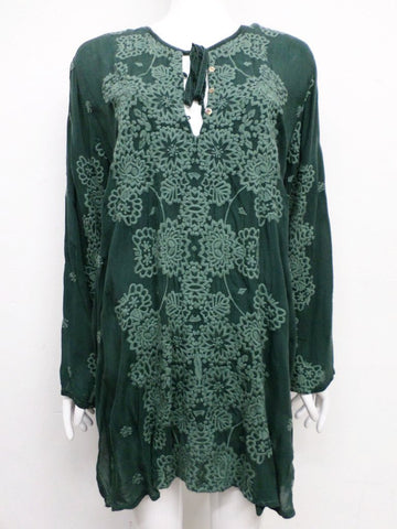 NWT Johnny Was Embroidered Stars Popover Tunic - 1X - SH10480718