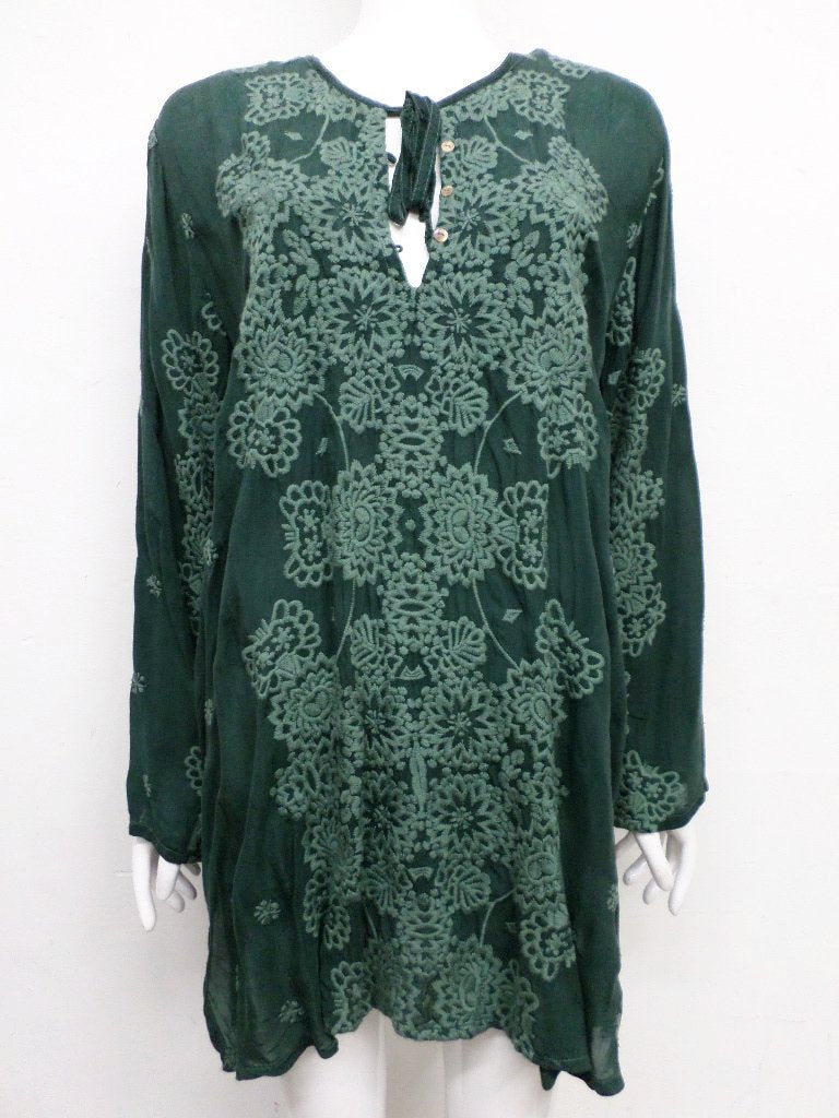 NWT Johnny Was Embroidered Stars Popover Tunic - M - SH10430418