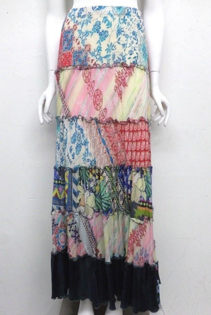 NWT Johnny Was Mix Print Tiered Skirt - S - SH62671018