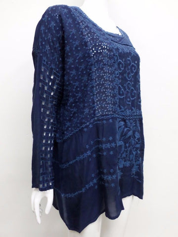 NWT Johnny Was Mixed Patchwork Embroidered Tunic - XL - JW14830816