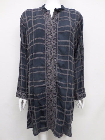 NWT Johnny Was Embroidered Chepas Long Button-Down Tunic - XL - JW52251117