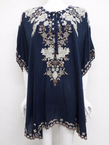 NWT Johnny Was Egypt Eyelet Embroidered Poncho Top - 2X - SH10460418