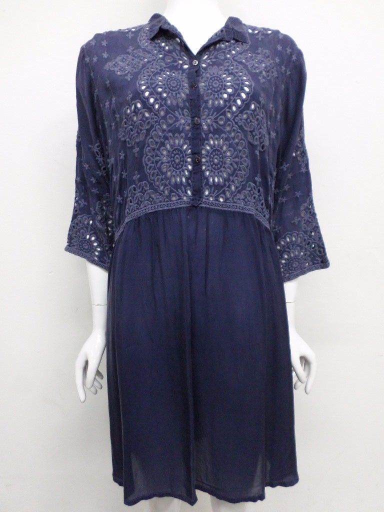 NWT Johnny Was Embroidered Eyelet Wheel Tunic - XL - JW51190917