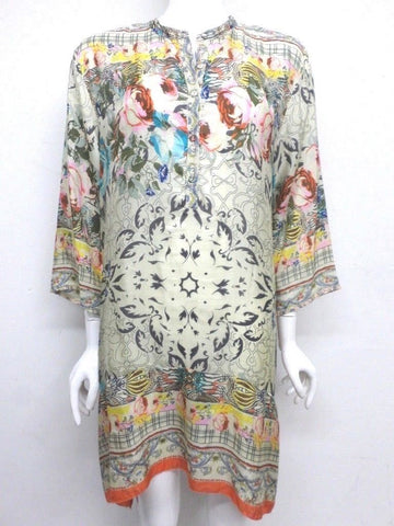 NWT Johnny Was Silk Tribute Long Tunic - XL - SH62860119