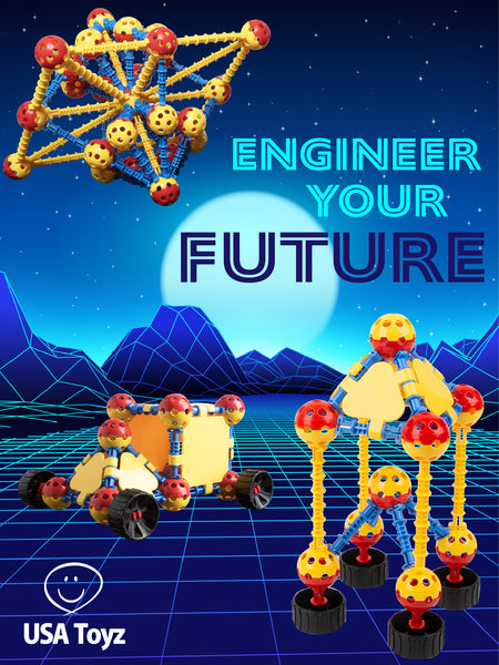 Quarks building blocks are great engineering toys that will surely test children's creativity in constructing futuristing structures. It has an easy-snap construction feature that kids will enjoy. Build your way in to the future and discover tiny engineers within!