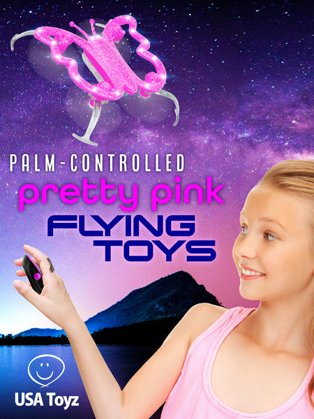 Monarch butterfly drones are great palm controlled drones. There comes in pretty glittery pink that will surely mesmerize as it flies. Maneuver it with your palms and not worry about remote controls.