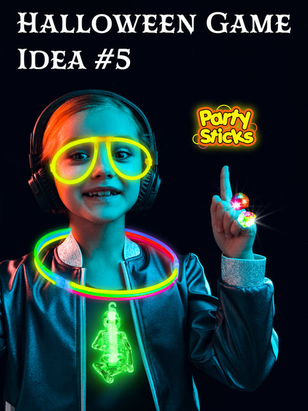 7 BEST Halloween Party Ideas for kids and DIY Halloween games, trick or treat candy alternatives or classroom game prizes for indoors or outdoors, day or night with glow in the dark bulk toys