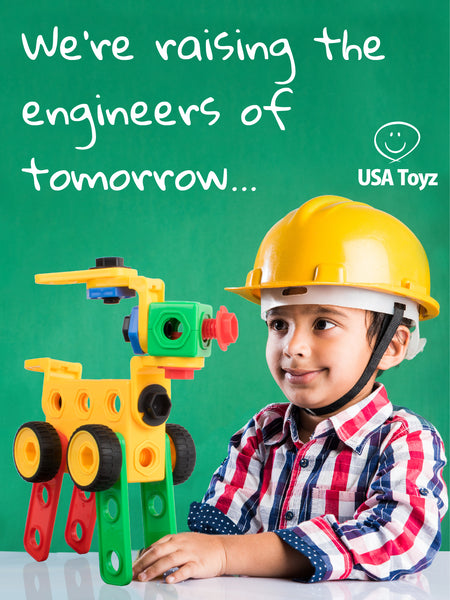 STEM and STEM learning toys for boys and girls to get hands on building skills, create custom cars buildings and robots with educational toys