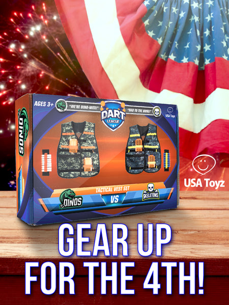 40 foam darts keep Nerf toy guns stocked and loaded for endless fun. Use your compatible Nerf gun vest as a convenient dart holder to store ammo for quick access with 4 clips and 2 wrist straps
