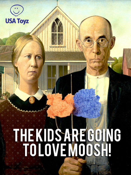 Moosh modeling clay for kids to make endless 3D designs; Great as therapy molding clay or sensory play foam for kids; Less mess than kinetic sand, floof, magnetic sand and other kids clay