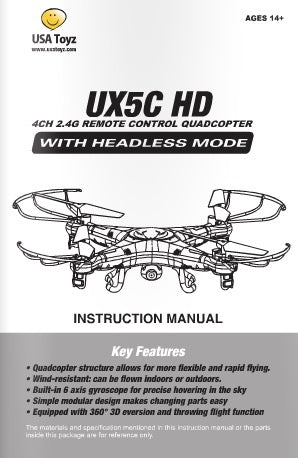 Udi u818a quadcopter drone user guide manual usermanual. Info.