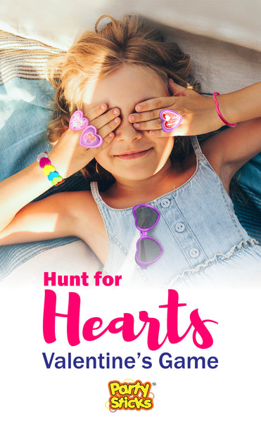 Valentine's Day Party Ideas for Kids who love to be active - Host a love-themed scavenger hunt or load all the PartySticks Valentine party favors into the Saran Ball games. Fun Valentine party ideas for home and school