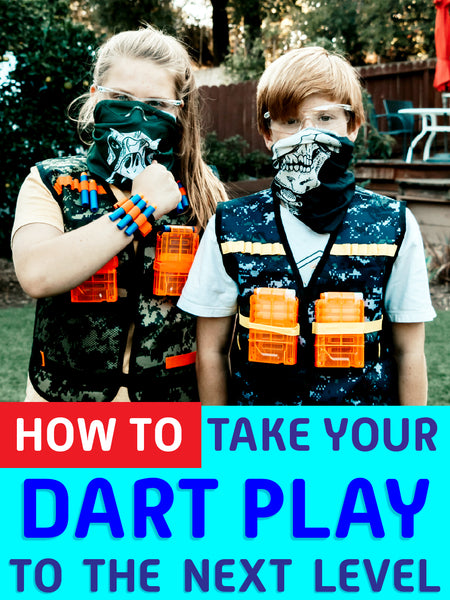 Nerf vests for tactical kids game makes sure that safety glasses protects your eyes. It comes fashionable with mask and jacket for rival outdoor game. Let their imagination run wild with this perfect multiplayer game accessories.