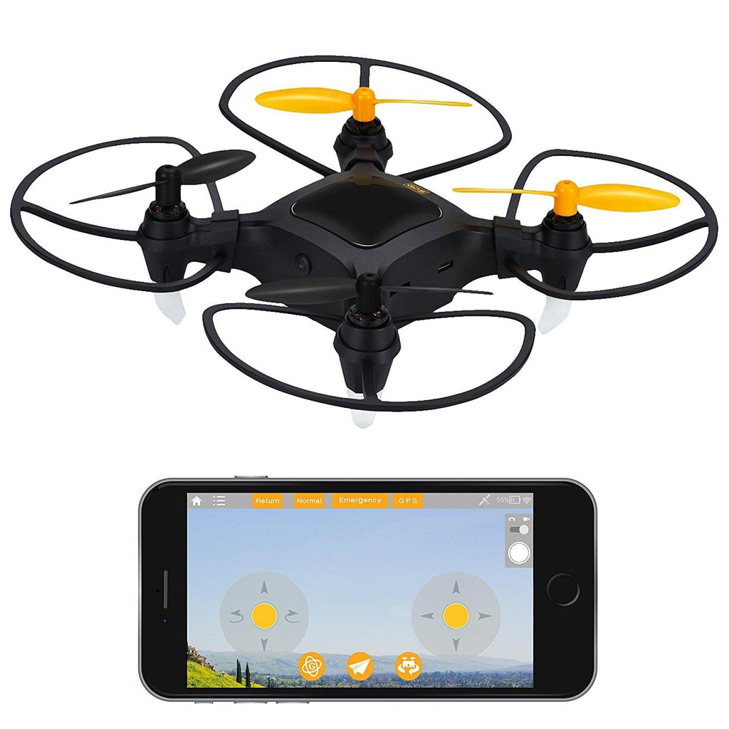 1 Plus Nano Drone with 1080p HD Camera and GPS - Small WiFi FPV Quadcopter Drone w/ Live Real Time Video - 360 Camera Drone For Beginners & Pros