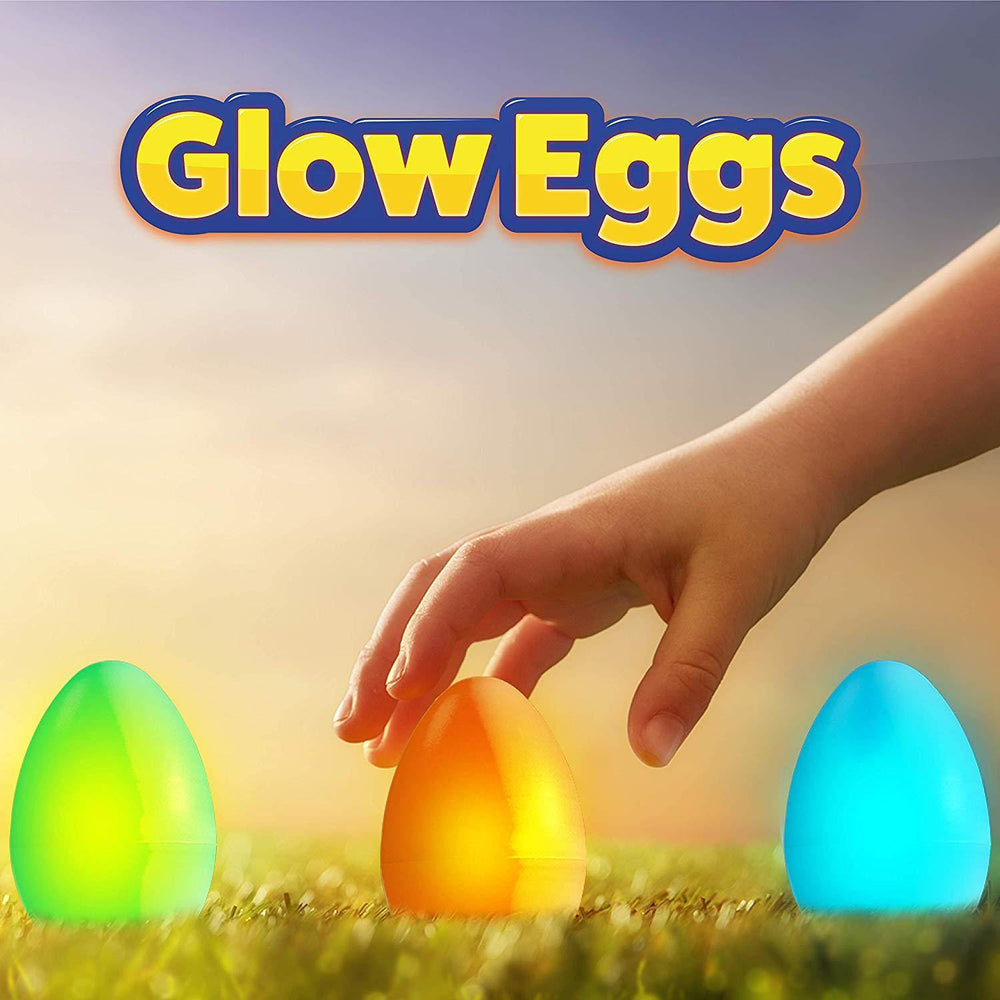 24pk Glow in the Dark Easter Eggs with 72 Glow Sticks