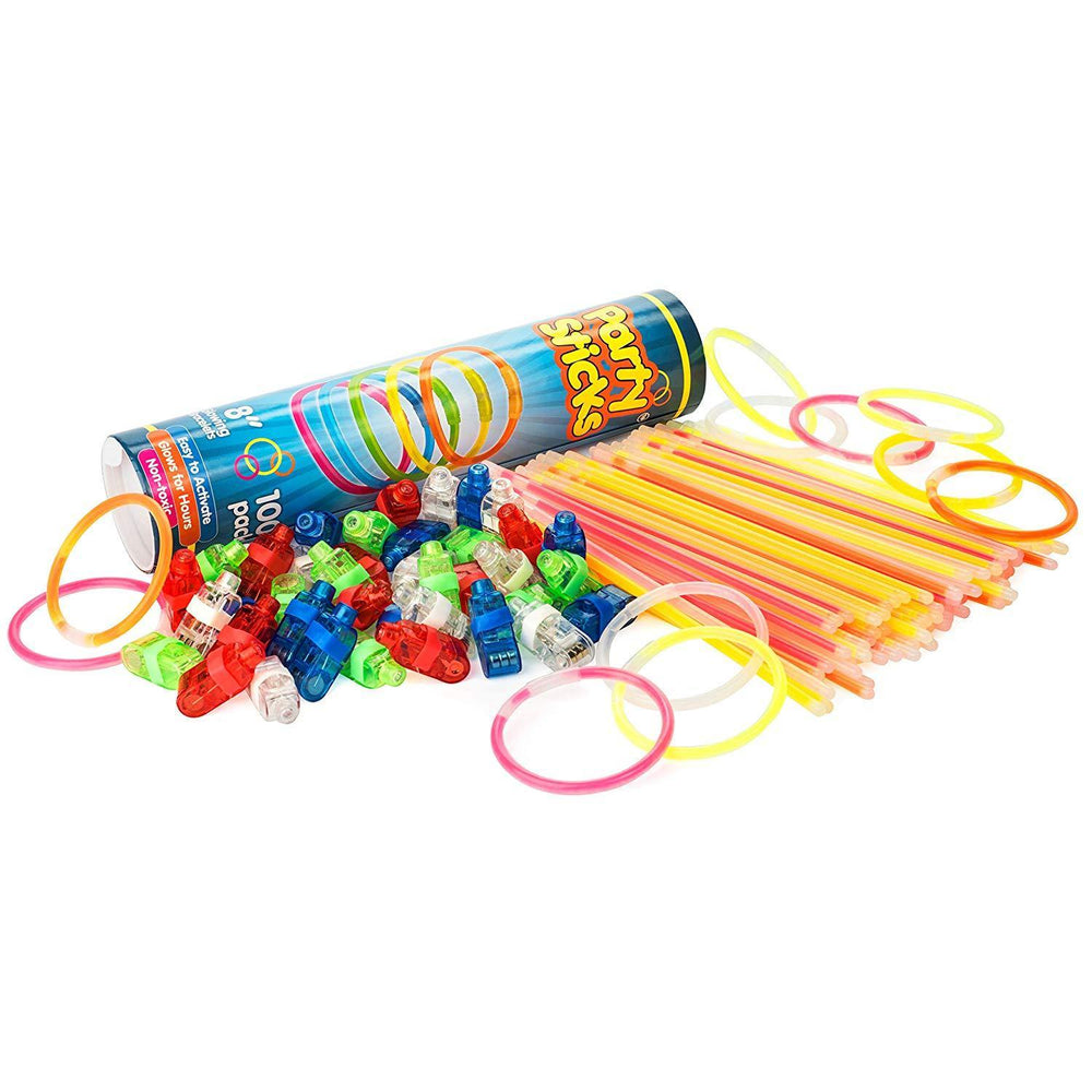140pk Bulk Glow Sticks and LED Finger Lights