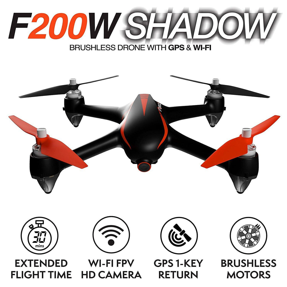 F200W Shadow GPS Drone with 1080p Wifi FPV Camera