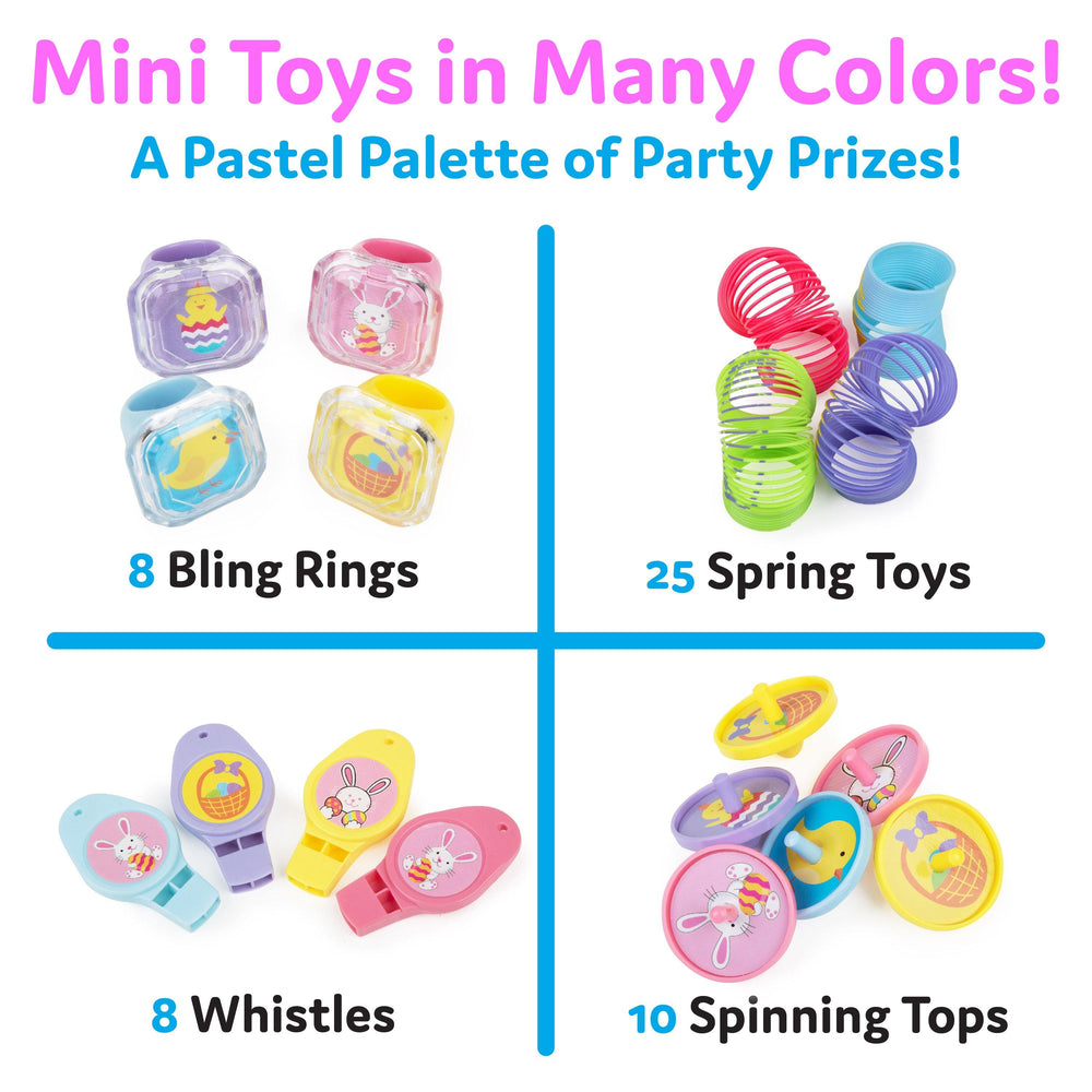 Bulk Easter Party Favor Toys - 100 Count