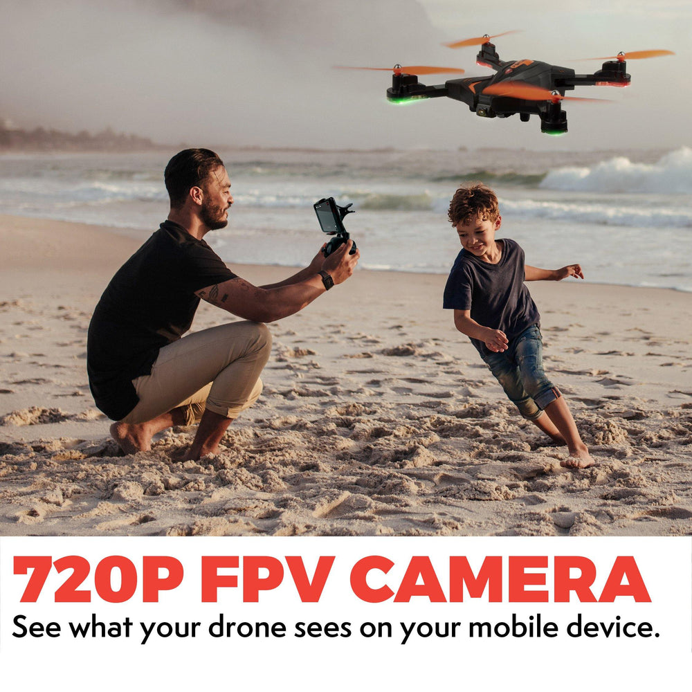 F111 Foldable Drone with Camera, WiFi FPV Video and Extra Battery
