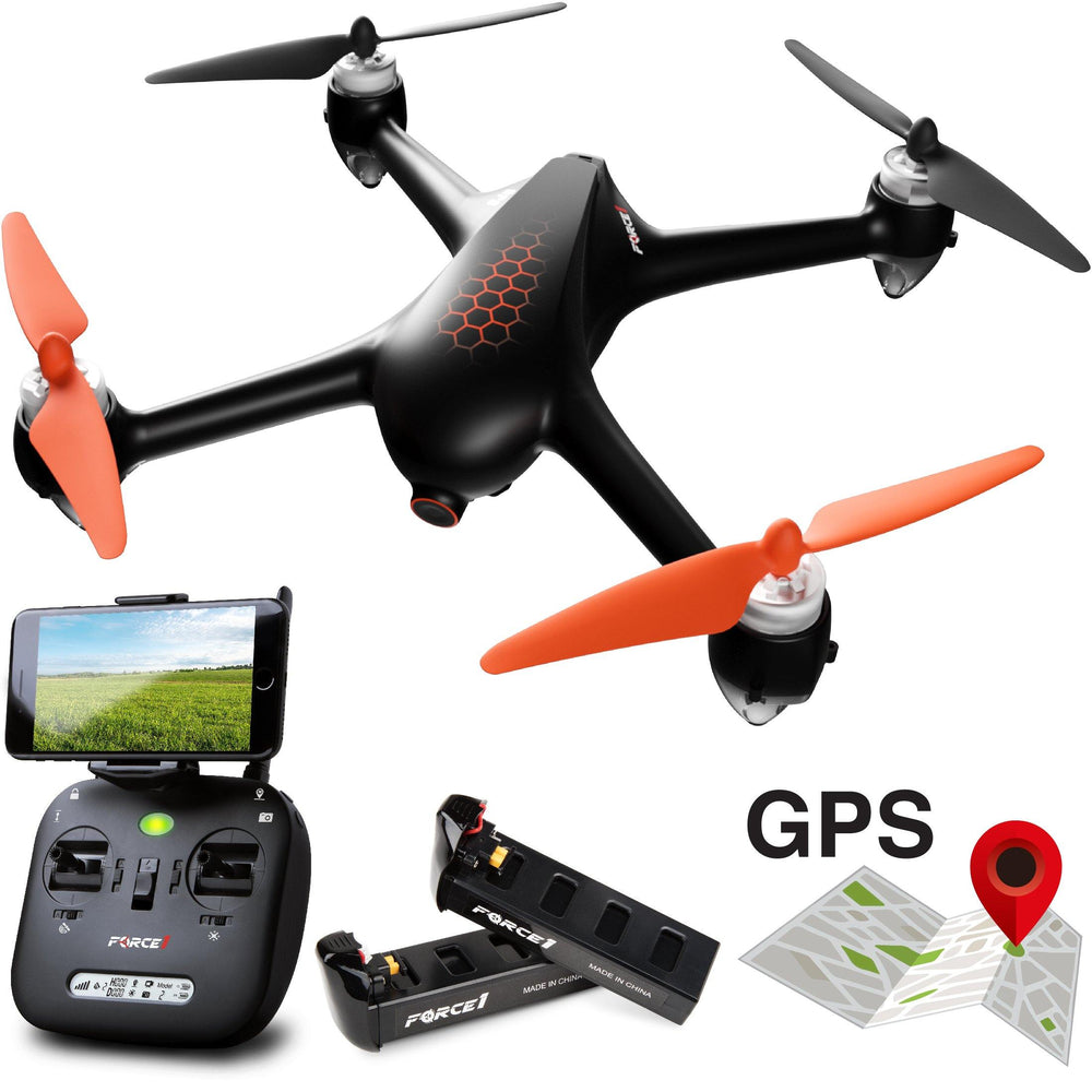Fly in drone Wi-Fi FPV with your iPhone or Android device and see what the Shadow HEX (advanced MJX Bugs B2SE) RC drone sees in crisp drone 1080p; mount your device directly to the quad copter drone controller remote