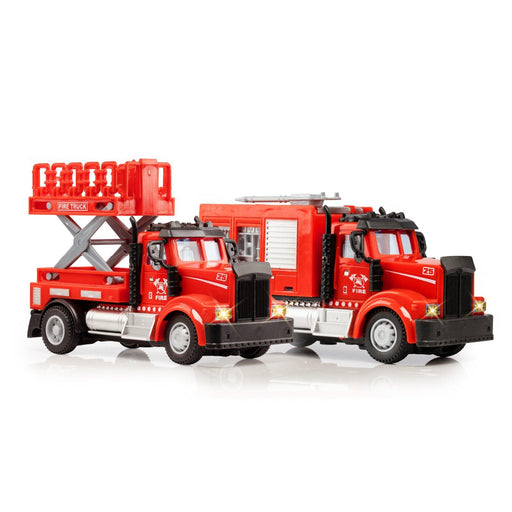 2-in-1 Mini Firefighter Trucks - USA Toyz