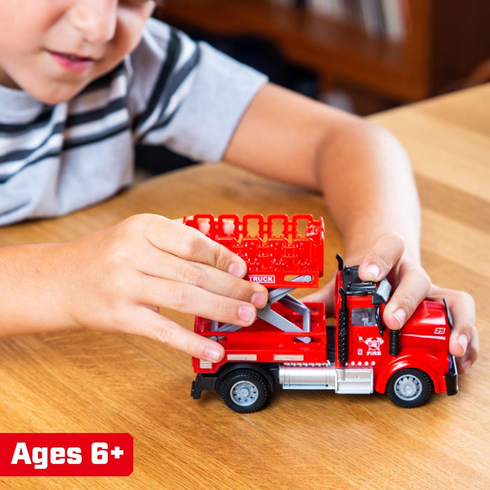 2-in-1 Mini Firefighter Trucks