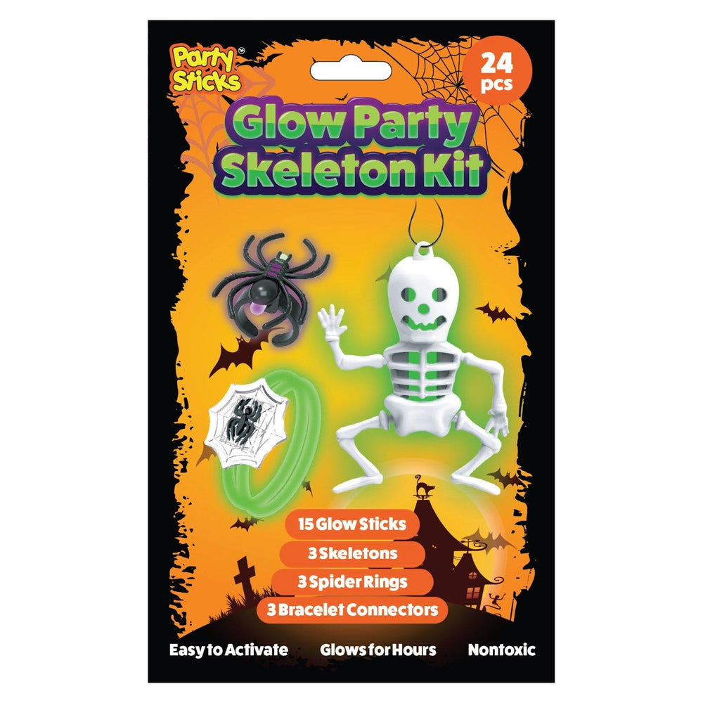 Glow Skeleton Party Kit (24pk)