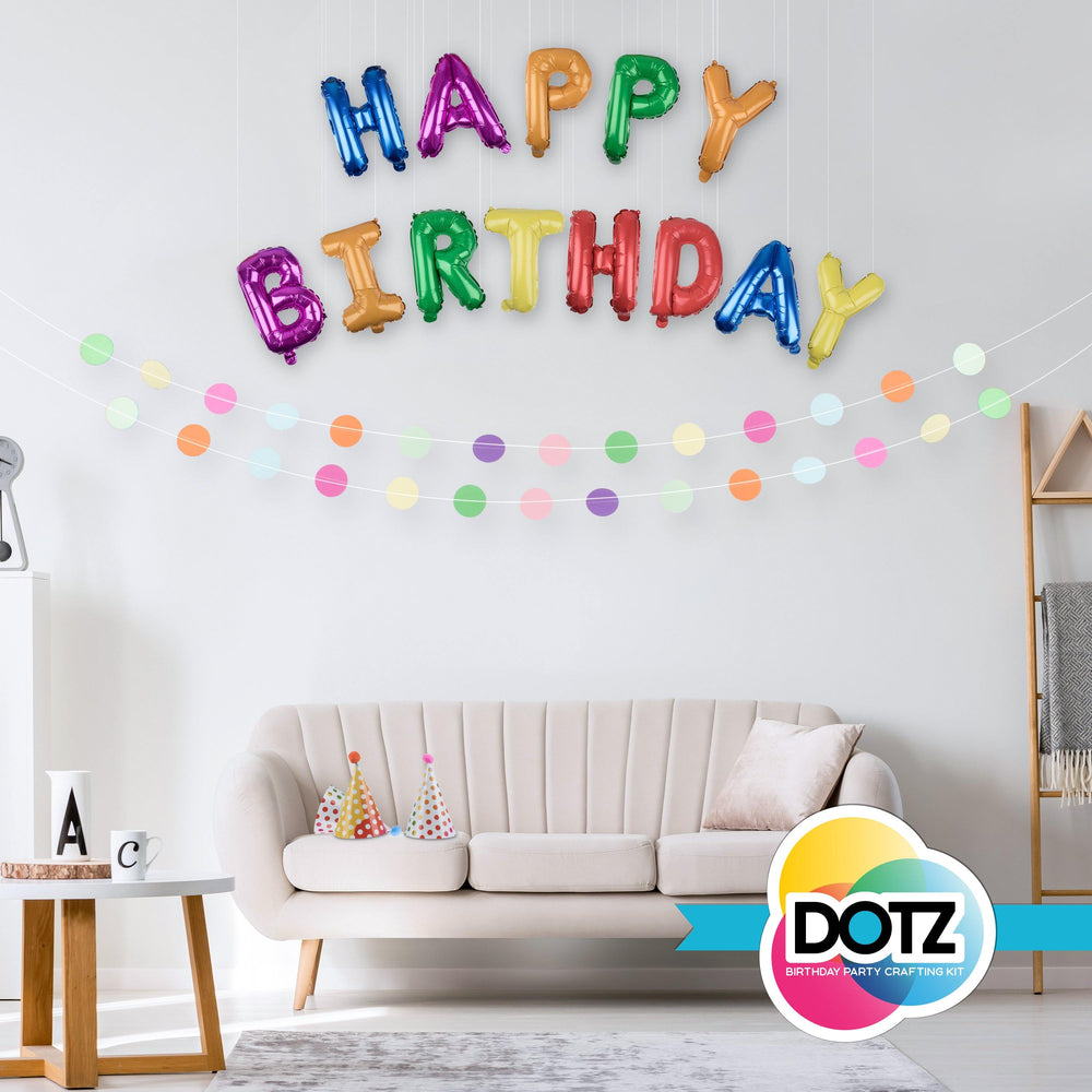 DOTZ DIY Birthday Party Supplies Kit - 21 Count