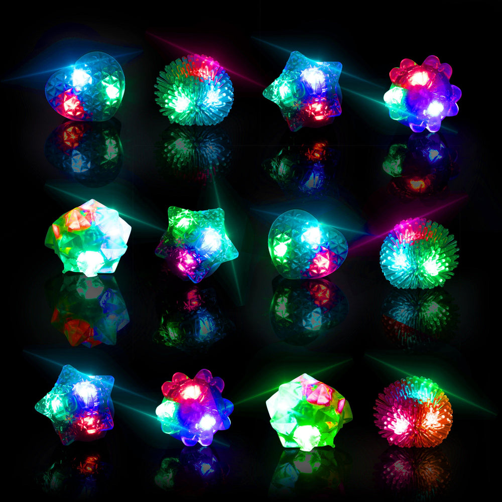 LED Flashing Jelly Rings - 36 Count