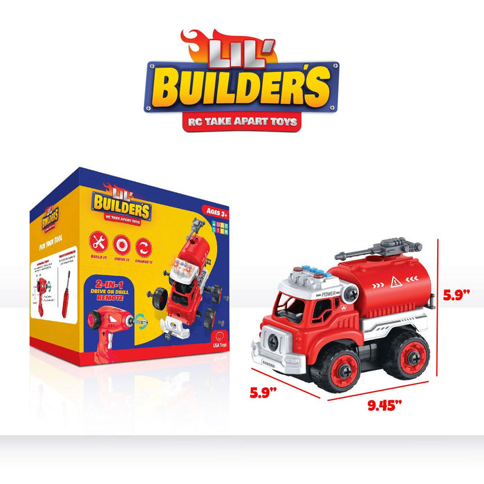 Lil' Builders 4-in-1 Fire Truck
