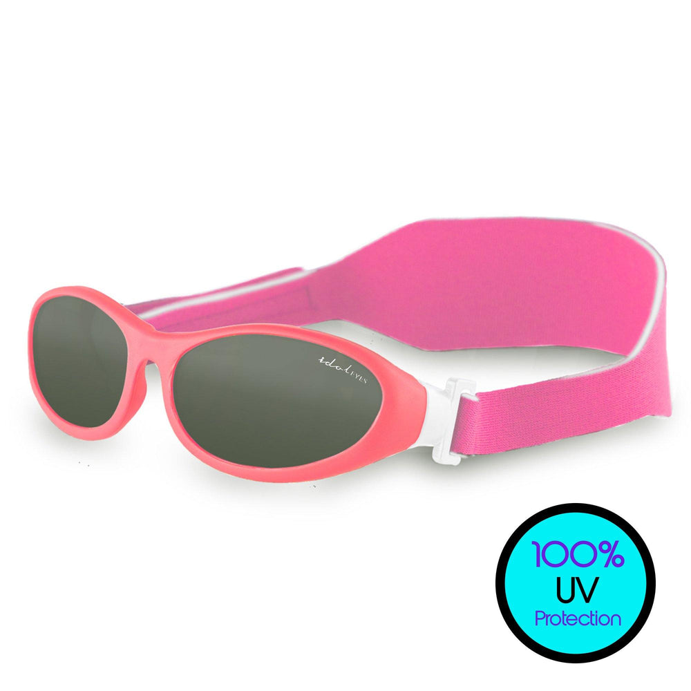 Baby Wrapz kids sunglasses are rated to block the strongest rays! These crystal-clear sunglasses for toddlers ages 0-2 years