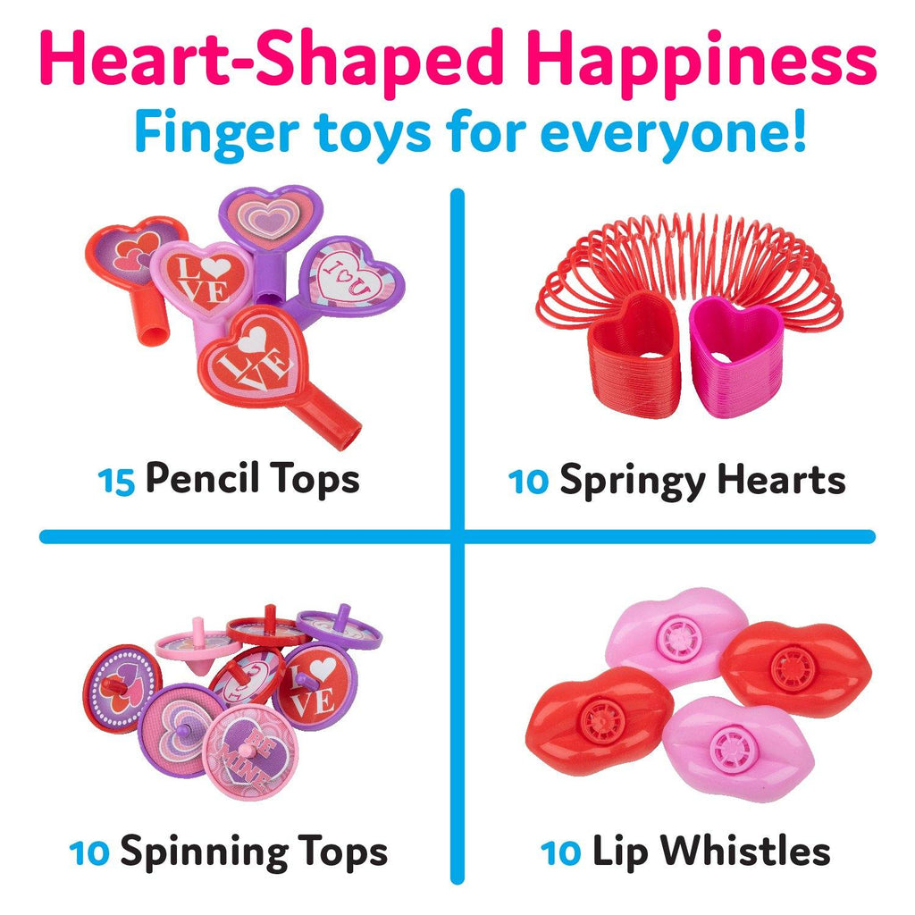 Valentine Party Pack Kids Toys - 100 Count Bulk Party Favors