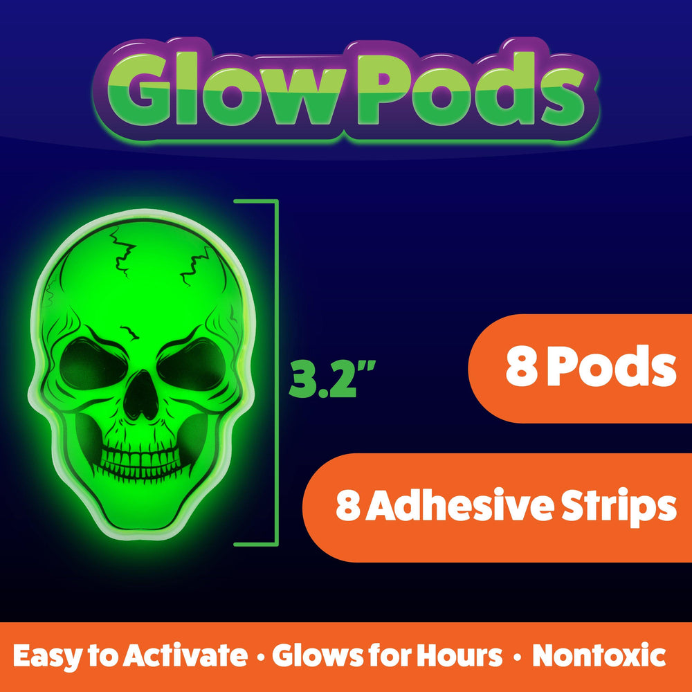 8pk Glow Stick Spooky Party Stickers