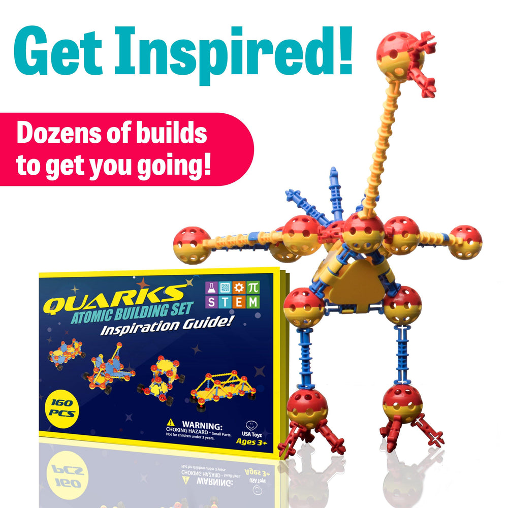 QUARKS 160 Pc STEM Engineering Building Toys with Multilink Spheres for Construction