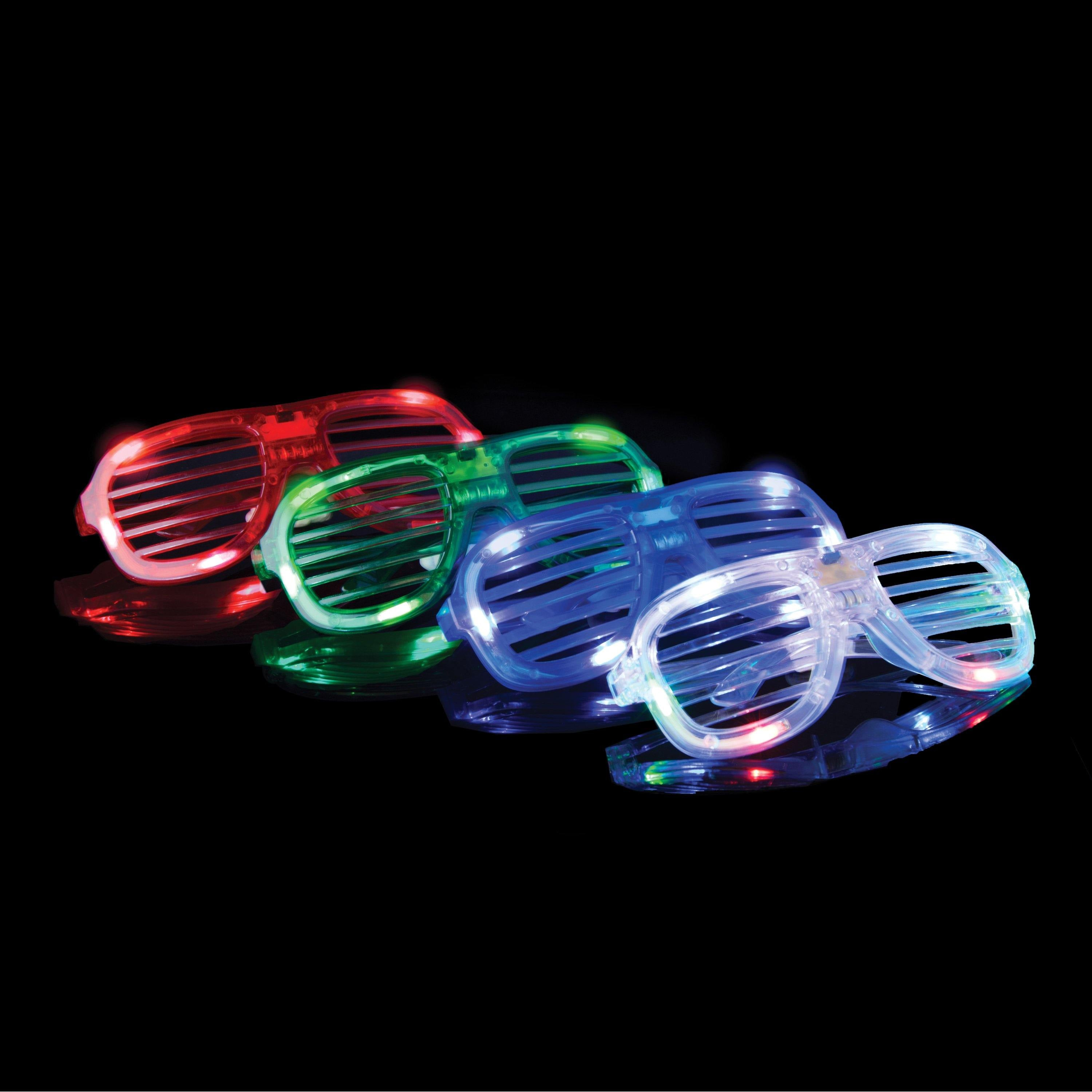 glasses accu up light party noise shutter activated pink shutters hours rechargeable rolladen brille power led