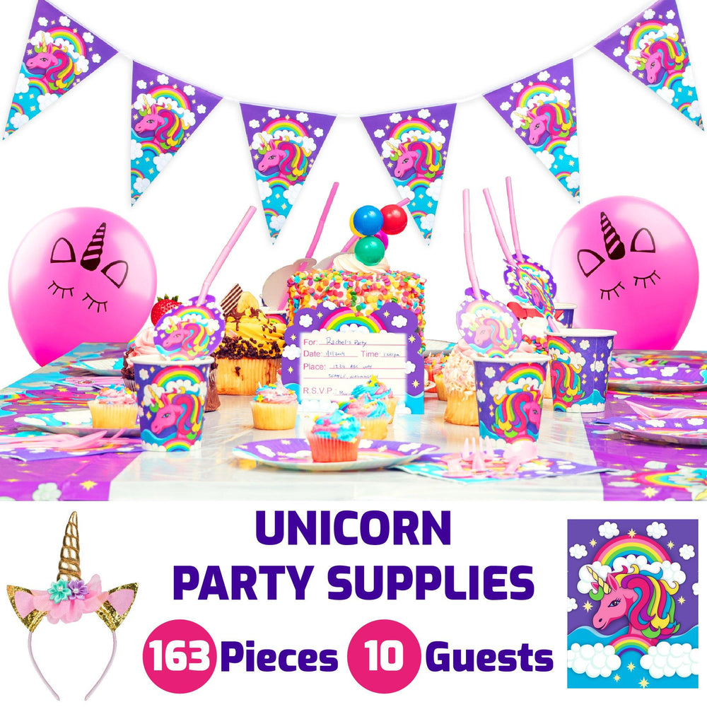 Misty Mountain Unicorn Party Supplies Pack