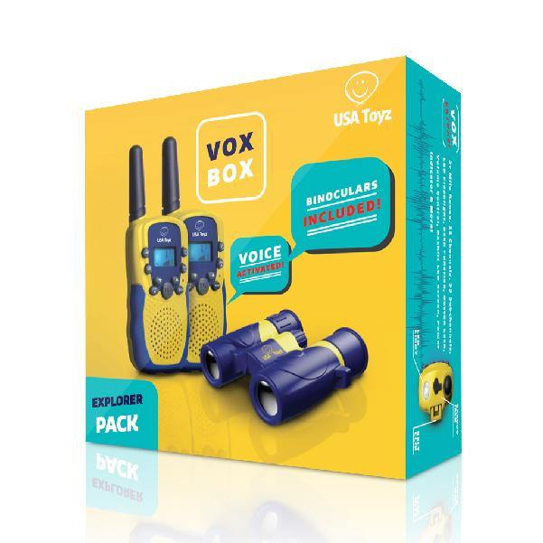 Vox Box - Walkie Talkies and Binoculars Set